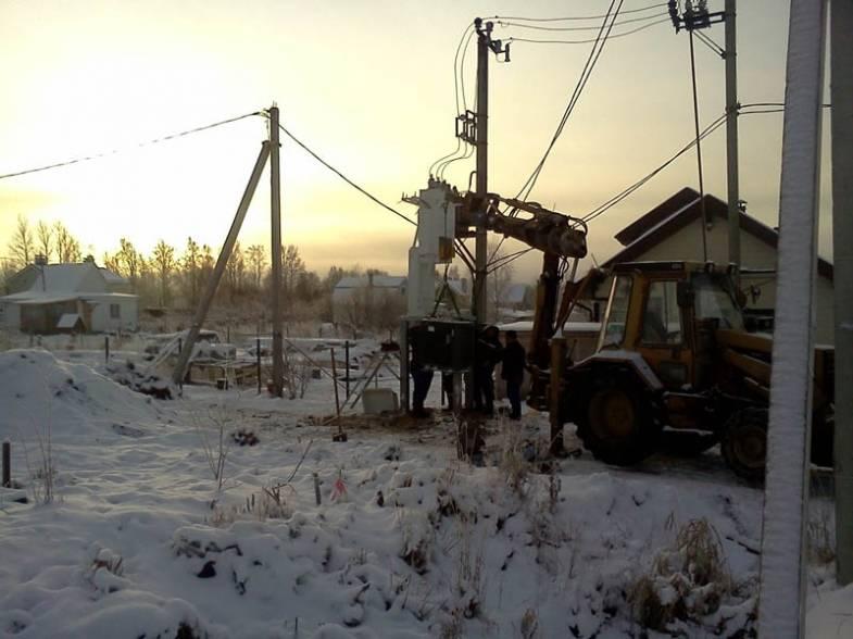 Монтаж Электросетей на 2-й очереди ФОТО